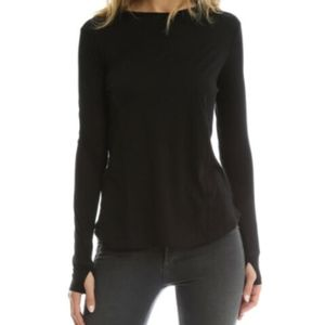 Helmut Lang Cashmere Cotton Long Sleeve Crew Tee S